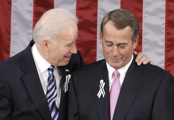 Joe Biden and John Boehner