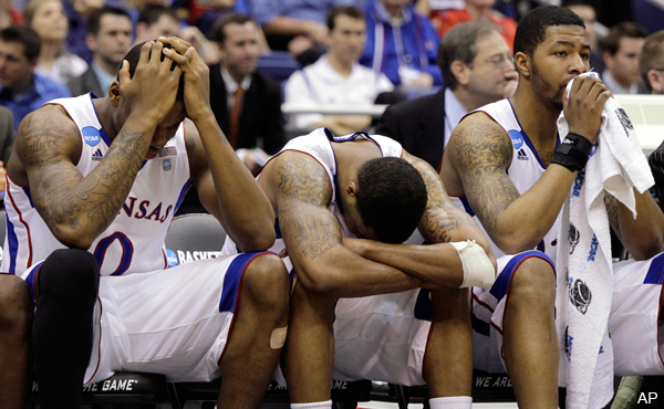 Is VCU the worst of Kansas' crushing NCAA tourney losses ...