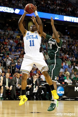 Big yellow sneakers: UCLA dons neon shoes in first-round ...