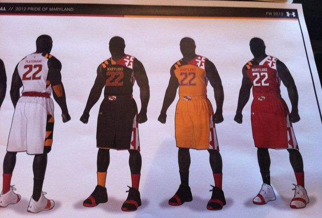 A preliminary look at Maryland\'s new state flag basketball jerseys ...