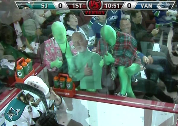 Vancouver Green Men Respond To Don Cherry In Game 1
