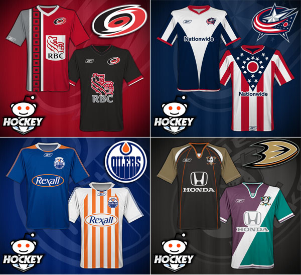 nhl jerseys reimagined as soccer kits yes please puck