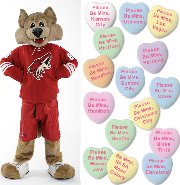 Puck Daddy's NHL Valentine's Day Candy Hearts Gallery; eat it up