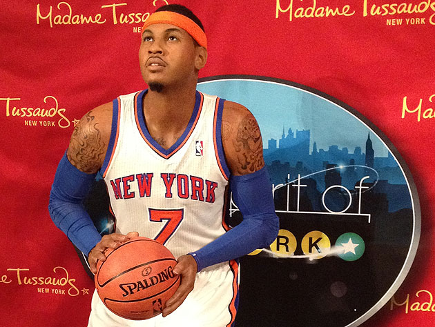Carmelo Anthony Gets Madame Tussauds Wax Figure People