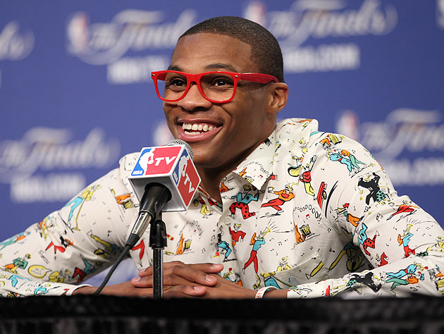 Russell Westbrook, Sally Jessy Raphael have some red ...