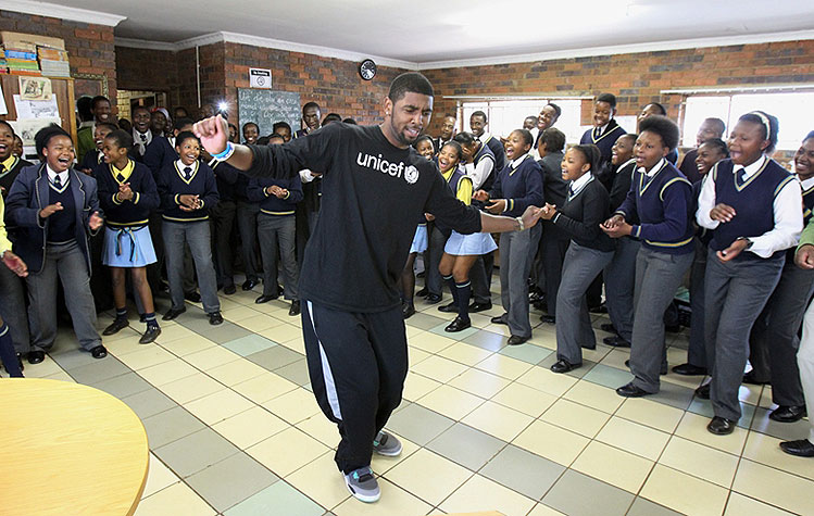 Kyrie Irving having a dance battle with a South African student…