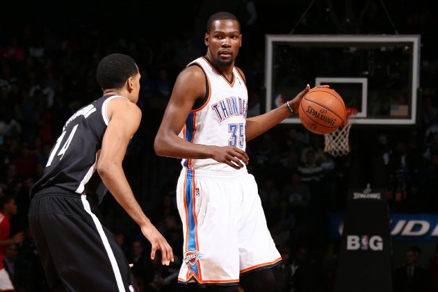 Kevin Durant's 30-plus scoring streak ends at 12 games, mostly …