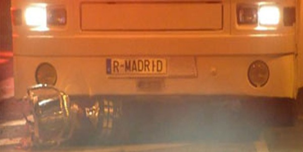 Серхио Рамос уронил Кубок Испании под колеса автобуса