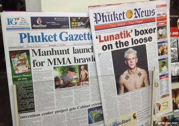 Former UFC fighter Browning is big news in Thailand, finally turns himself in