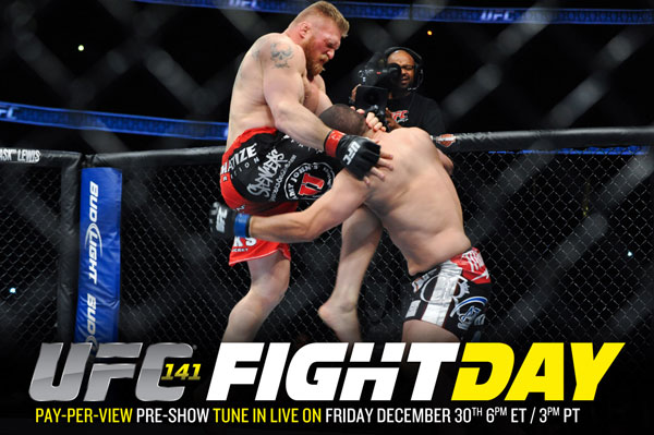 Yahoo! Sports and Heavy present UFC 141 Fight Day at 6 p.m. ET