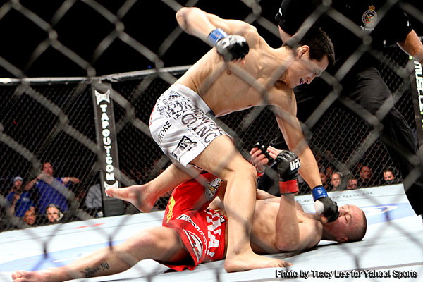 Mark Hominick shocked by ?Korean Zombie? with UFC record tying seven-second KO