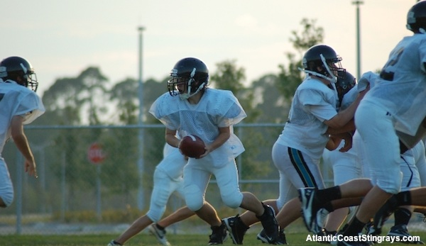 Atlantic Coast High School football practice