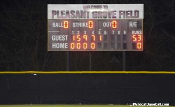 Lake Highlands Samuell baseball blowout