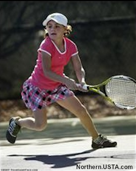 Rochester Minnesota tennis star Ingrid Neel in action