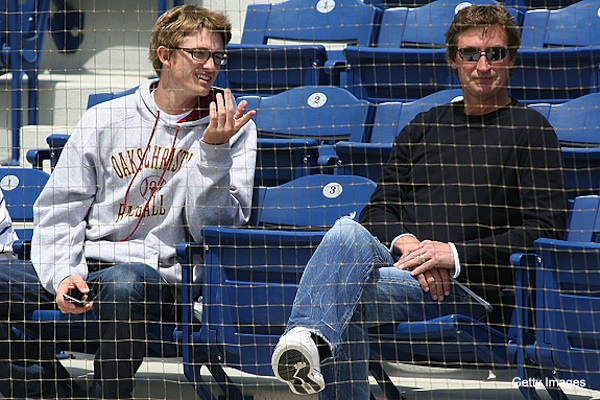 Oaks Christian baseball player Trevor Gretzky and Wayne Gretzky