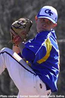 Garner pitcher Scotty McCreery