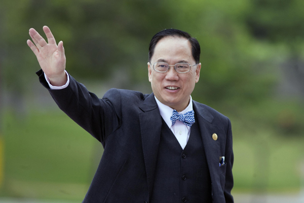 Donald Tsang. (Photo Credit: Alfredo Estrella|AFP|Getty Images)