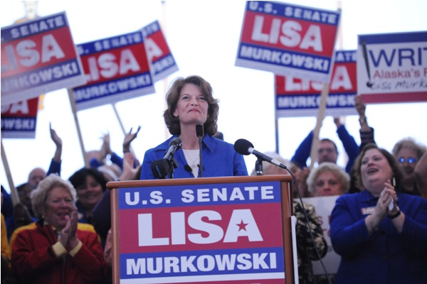 Lisa Murkowski announces her write-in campaign.