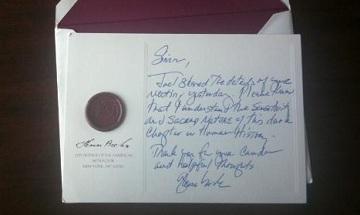Glenn Beck letter