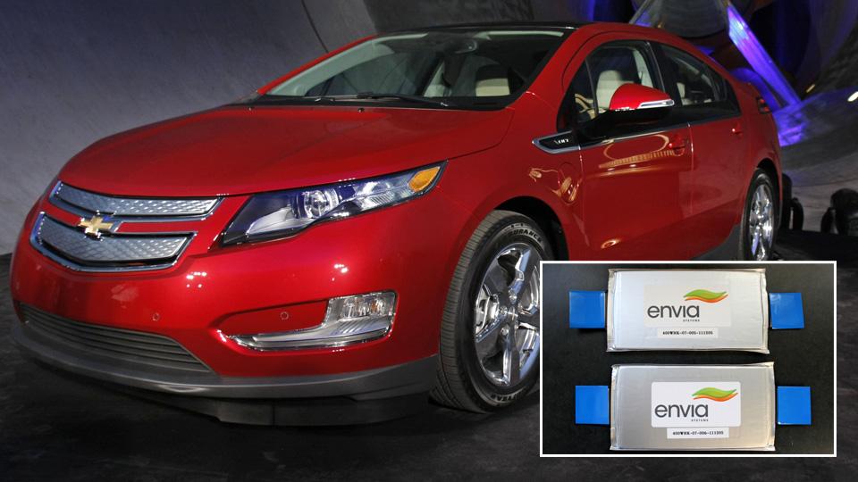 Envia battery breakthrough gives general motors lead for for General motors electric car