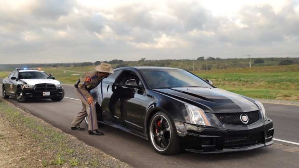 Hennessey Tuned Cadillac Hits 220 Mph On Texas Highway