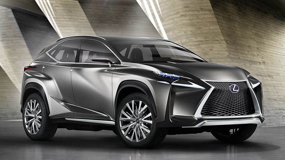 lexus lf nx concept previews its snarling new compact suv. Black Bedroom Furniture Sets. Home Design Ideas