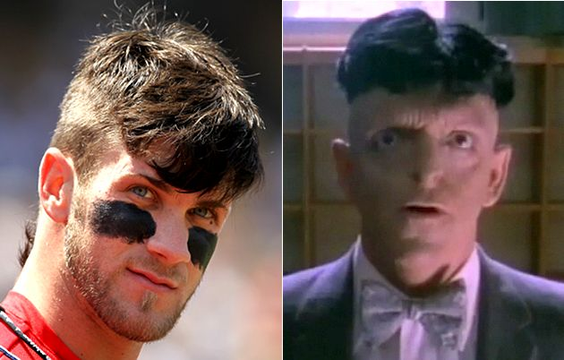 bryce harper�s �skullet� haircut � we�ve seen it before