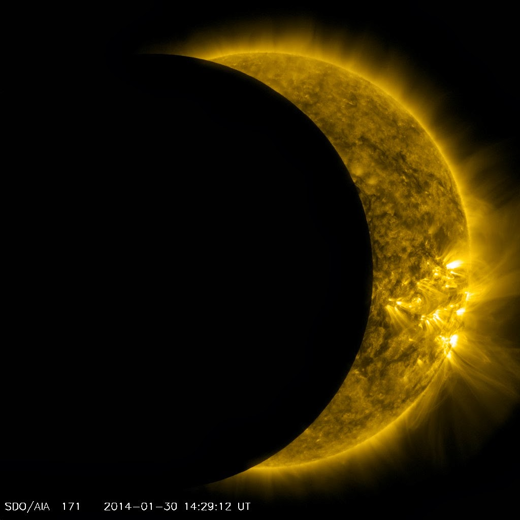 NASA satellite captures 'hidden' solar eclipse from space ...