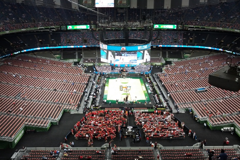 The View From The Worst Seat In The Superdome