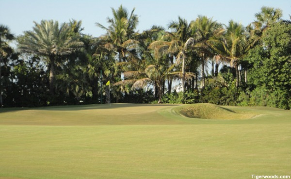 tiger woods� finished practice facility at home is