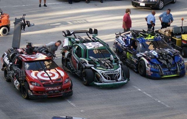 who are those nascar cars in the new transformers movie